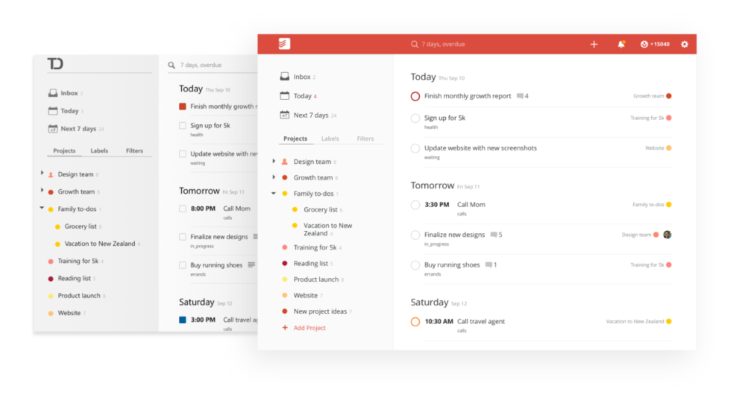 Todoist Updates Its Web App With New Features And Design | TechCrunch